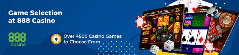 888 casino game selection