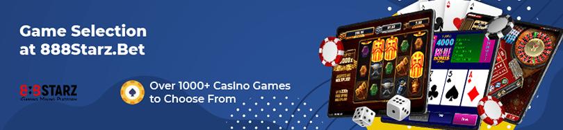 888Starzbet Casino Game Selection