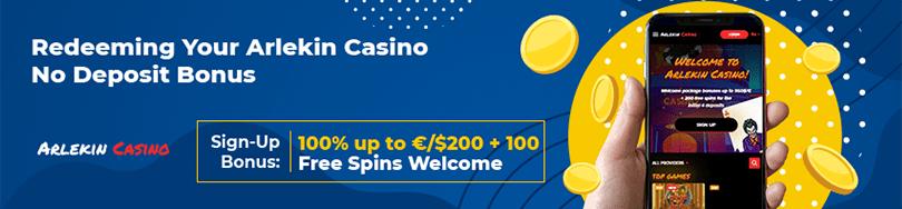 Arlekin Casino No Deposit Bonuses