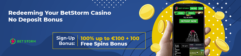 Betstorm Casino No deposit Bonus