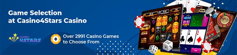 Casino4Stars Game Selection