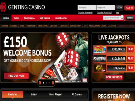 Genting Casino website