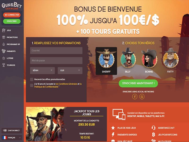 Gunsbet website