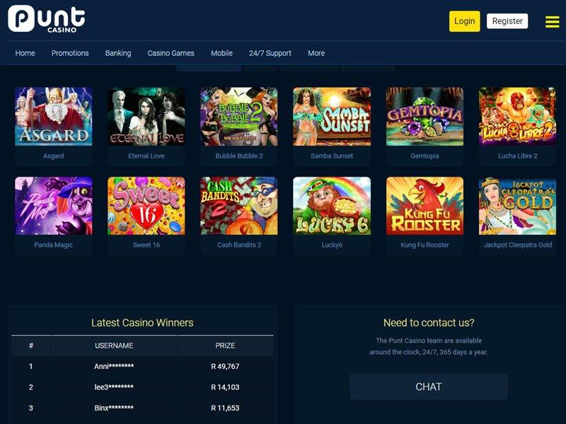Punt Casino software