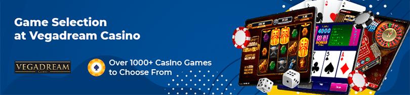 Vegadream No Deposit Casino Games