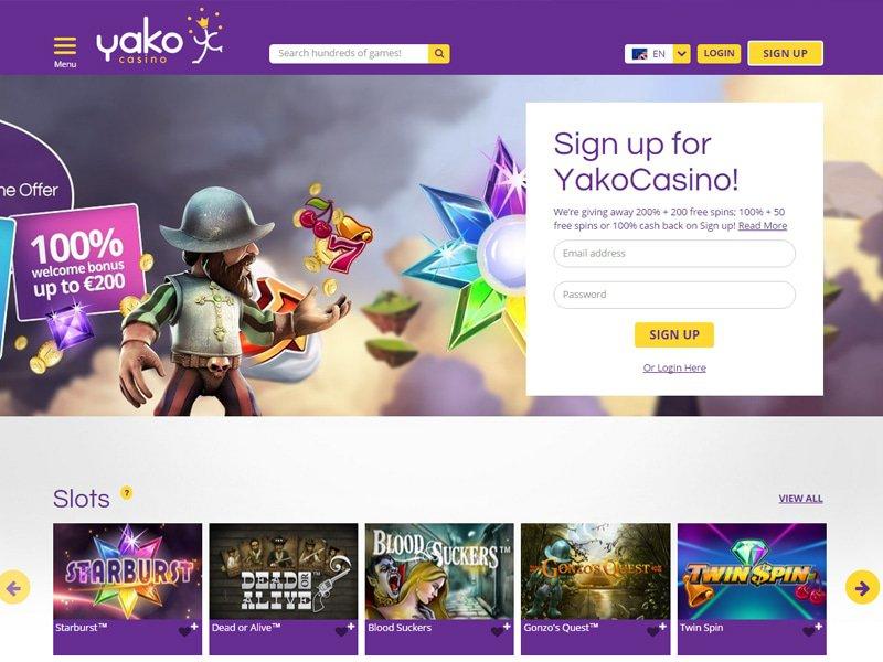 Yako Casino website