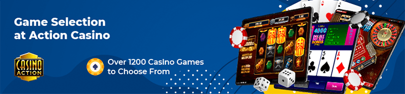 action casino game selection
