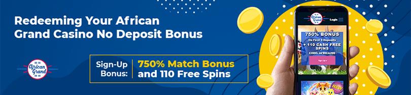 African Grand Casino Bonus