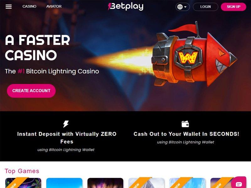 Casino Betplay.io website