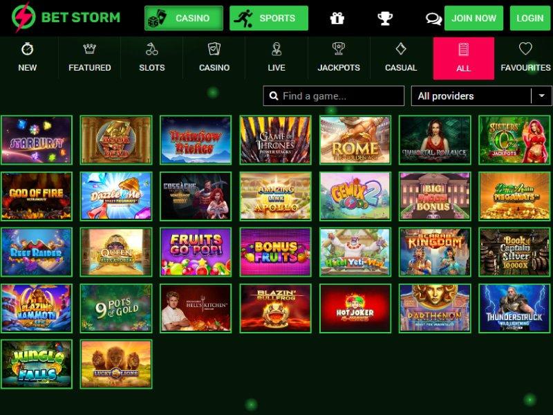 Casino Bet Storm software