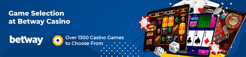 betway casino game selection