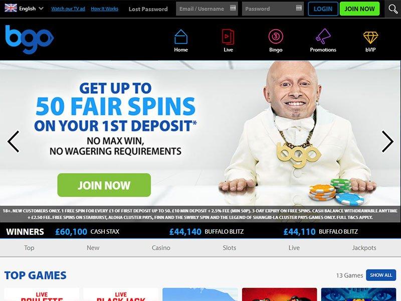 BGO Casino website