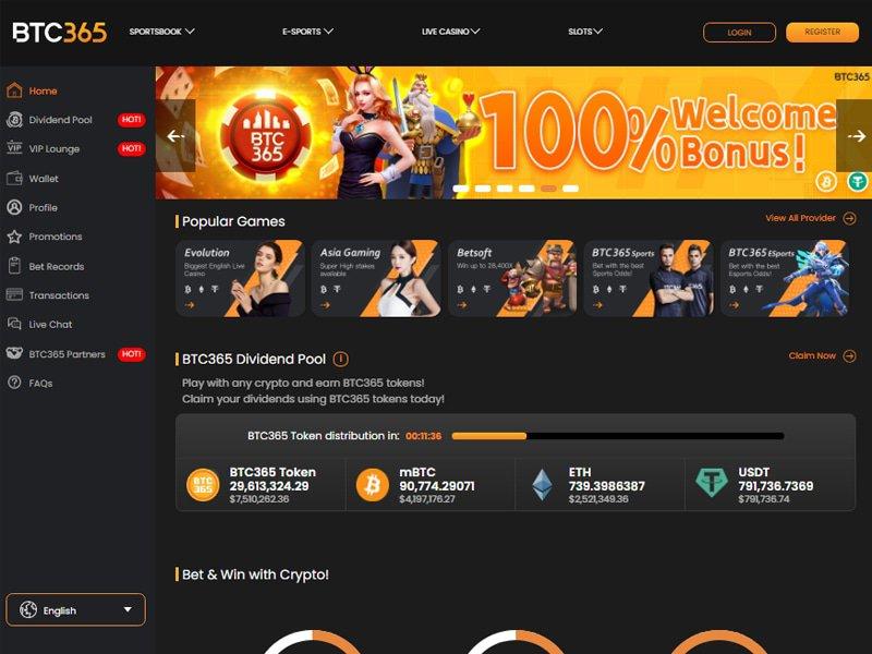 Casino BTC365 website