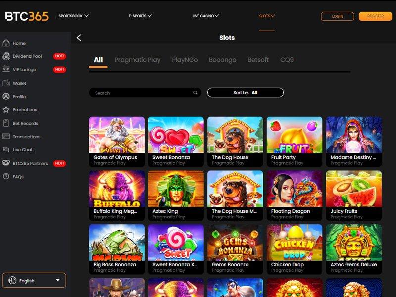 Casino BTC365 software