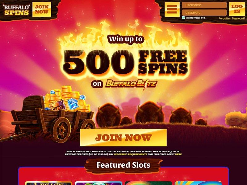 Buffalo Spins website