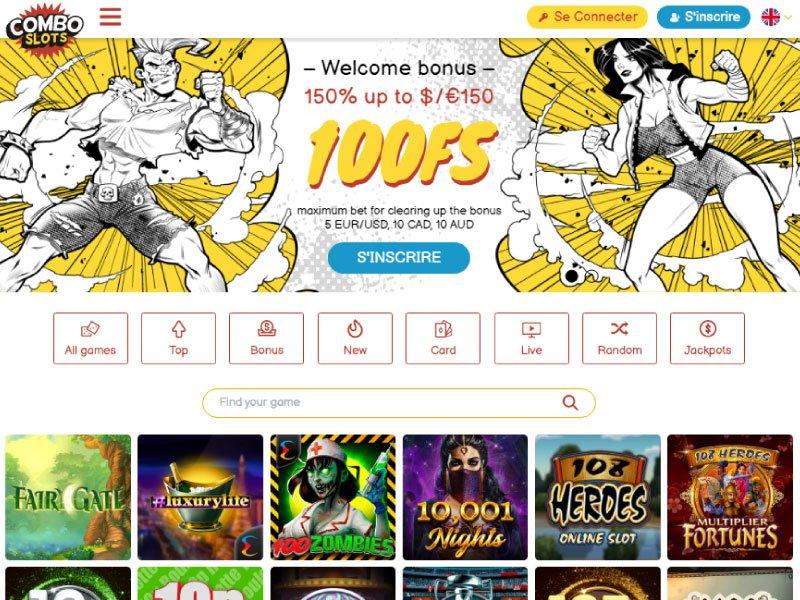 ComboSlots Casino website