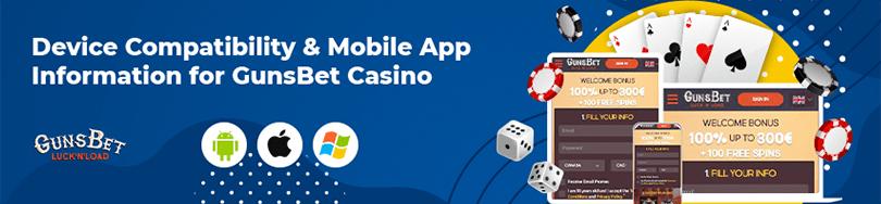 gunsbet casino device compatability