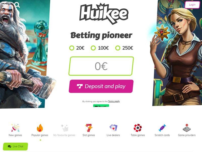 Huikee Casino website