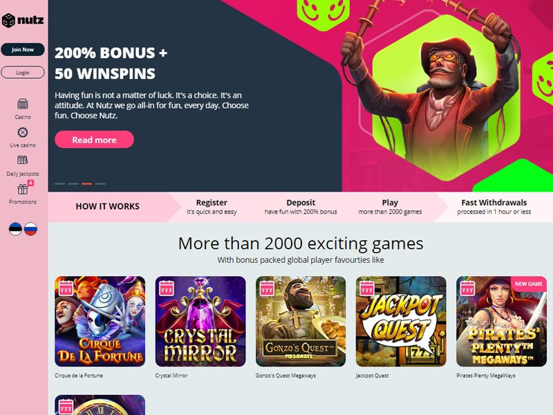 Casino Nutz website