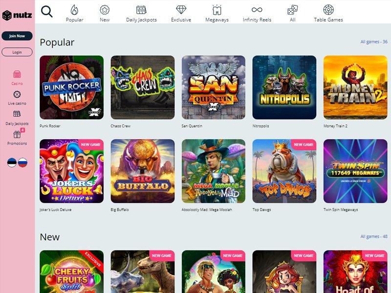 Casino Nutz software