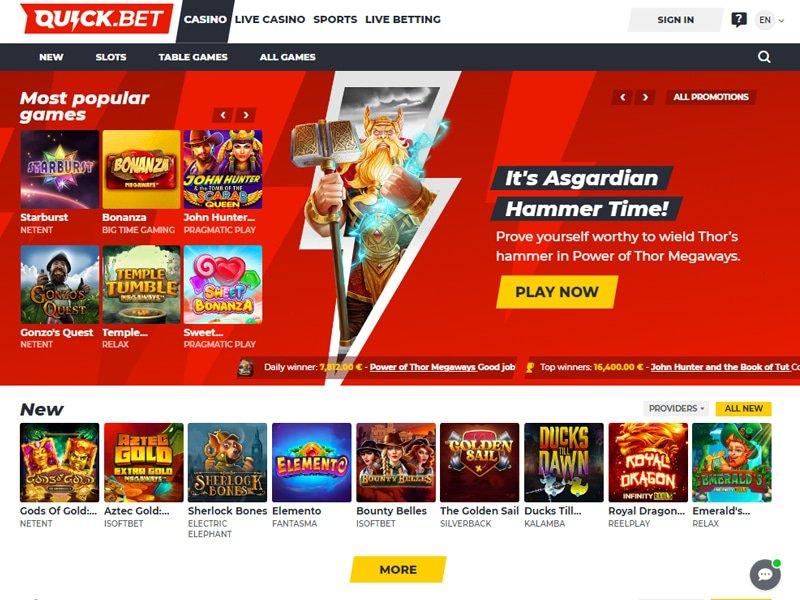 Quick.Bet Casino website