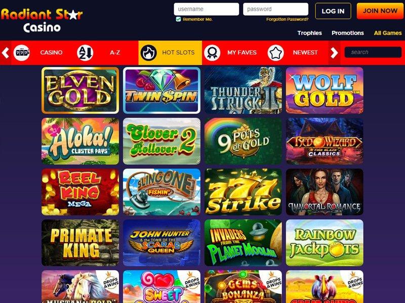 Radiant Star Casino software