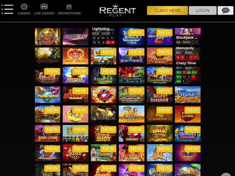 Regent Casino software
